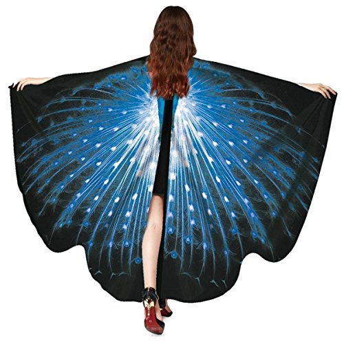 EONGERS Butterfly Wings Costume Party Prom Children Dress Up Novel Costumes (Peacock Blue) ()