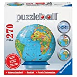 Ravensburger Children's Globe with Info-Booklet - 270 pc 3D Puzzle