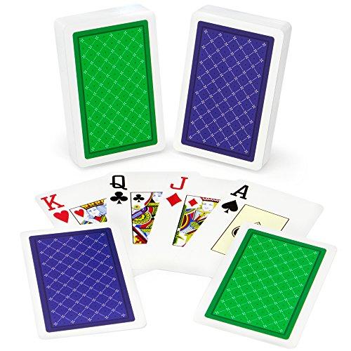 Copag Class Standard 100% Plastic Playing Cards, Bridge Size, Jumbo Index - Index Double Deck Bridge