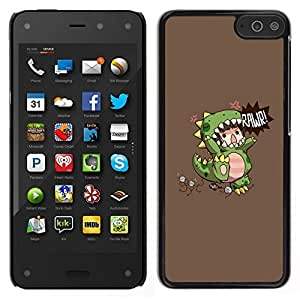 // PHONE CASE GIFT // Duro Estuche protector PC Cáscara Plástico Carcasa Funda Hard Protective Case for Amazon Fire Phone / Children'S Dinosaur Monster Mother /