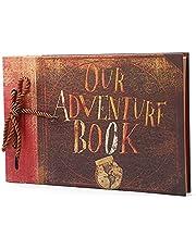 Daseey 40 Folhas Nosso Livro de Aventura DIY Álbum de Scrapbook Do Vintage Foto 29x19 cm / 11.4x7.5in para o Aniversário de Família Casamento Viajar Bebê Crescimento