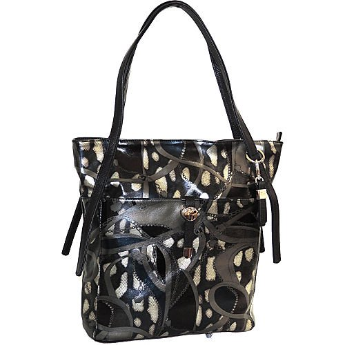 Buxton Caitlin Tote Shoulder Bag, Black/Multi, One Size