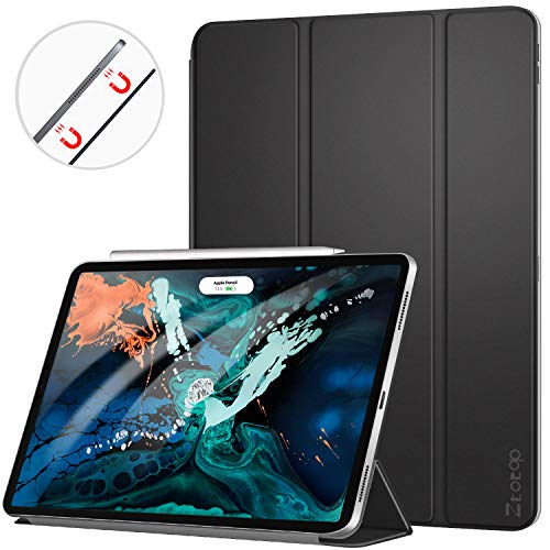(Ztotop Case for iPad Pro 12.9 Inch 2018, Strong Magnetic Ultra Slim Minimalist Smart Case, Trifold Stand Cover with Auto Sleep/Wake for New iPad Pro 12.9 Inch 2018 (3rd Gen), Black)