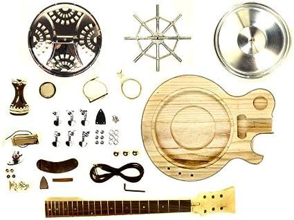 Unfinished Resonator Electro Acoustic Guitar Diy Kit Project Amazon Co Uk Musical Instruments