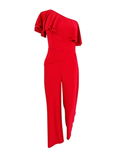 Amazoncom Lauren By Ralph Lauren Womens Wide Leg One Shoulder