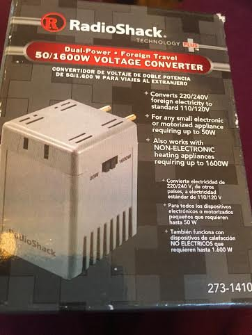 - Travel Voltage Converter 50 to 1600 Watt