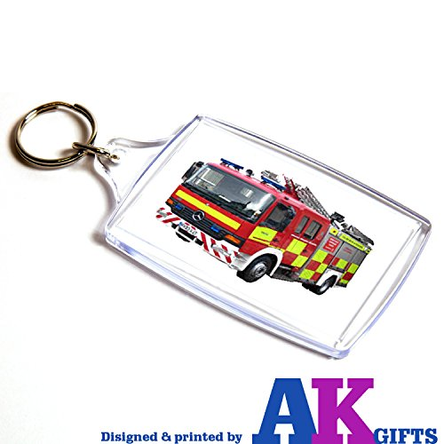 Akgifts Engine cumplea de llavero Fire os doble regalo cara fgHqzw