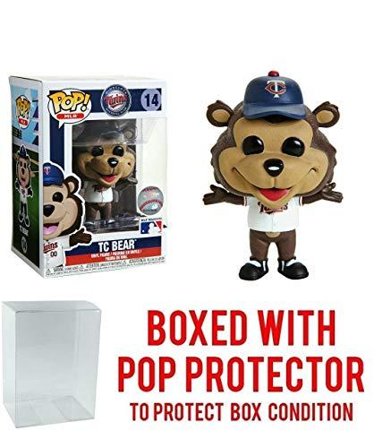 POP! Sports MLB Mascots Minnesota Twins, TC Bear #14 Action Figure (Bundled with Pop Box Protector to Protect Display Box)