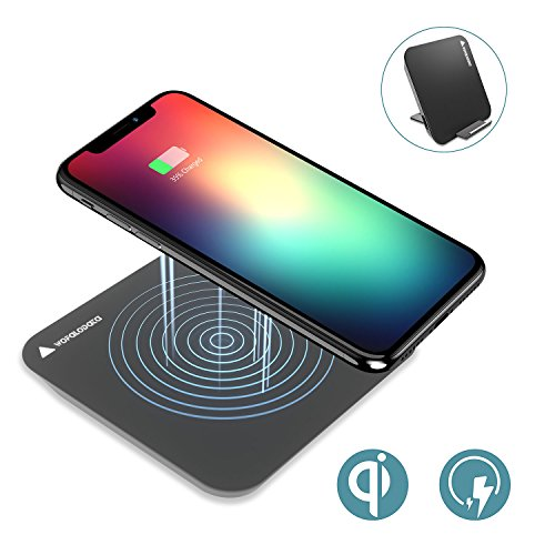 iPhone X Wireless Charger,Wofalodata Qi Fast Wireless Charging Pad for Samsung Note 8/S8/S8 Plus/S7/S7 Edge/S6 Edge/Note 5?Standard Charger for iPhone8/iPhone8 Plus/iPhone X and All QI-Enabled Devices(Black)