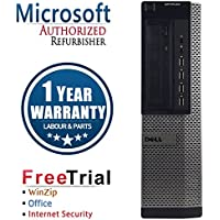 Dell 790 Business High Performance Desktop Computer PC (Intel Core i3 2100 3.1GHz,4G RAM DDR3,250G HDD,DVD-ROM,Windows 10 Professional)(Certified Refurbished)