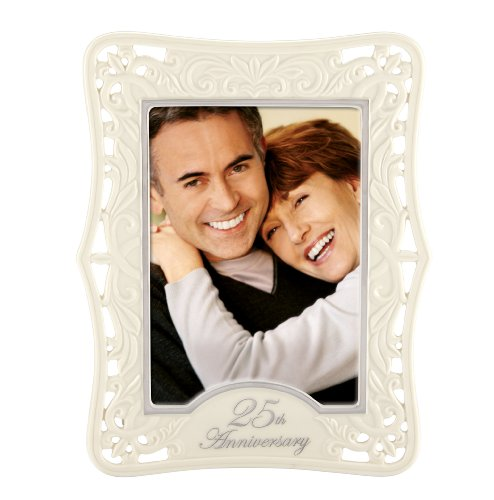 Lenox Portrait Gallery 25th Anniversary Luxury Frame, 5 by 7-Inch
