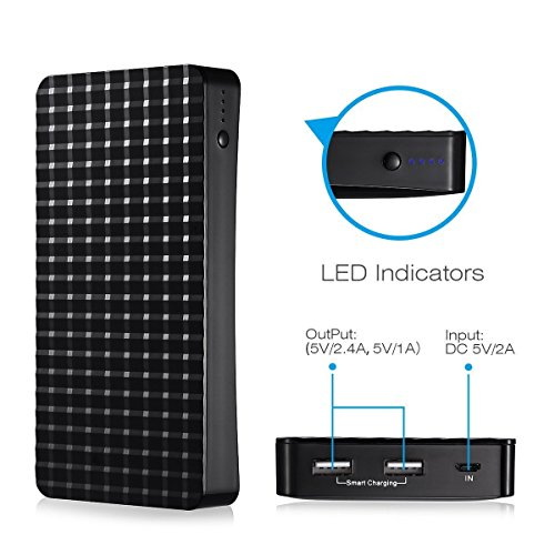 Poweradd Pilot P3 excessive Capacity 15000mAh mobile or portable Charger strength Bank External Battery using powerful two USB 34A expenditure for iPhone iPad Samsung Galaxy and much more External Battery Packs