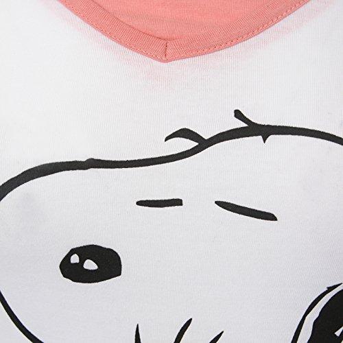 Snoopy - Pijama de manga larga para mujer, con diseño de Mickey Mouse Snoopy 'Best Friends forever!!!'