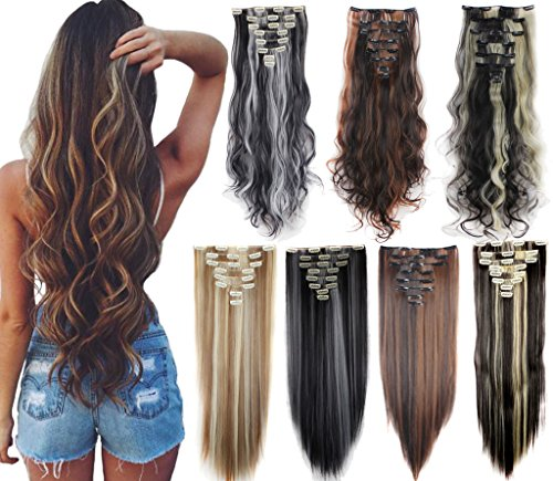 Delivery Highlight Straight Extensions Hairpiece