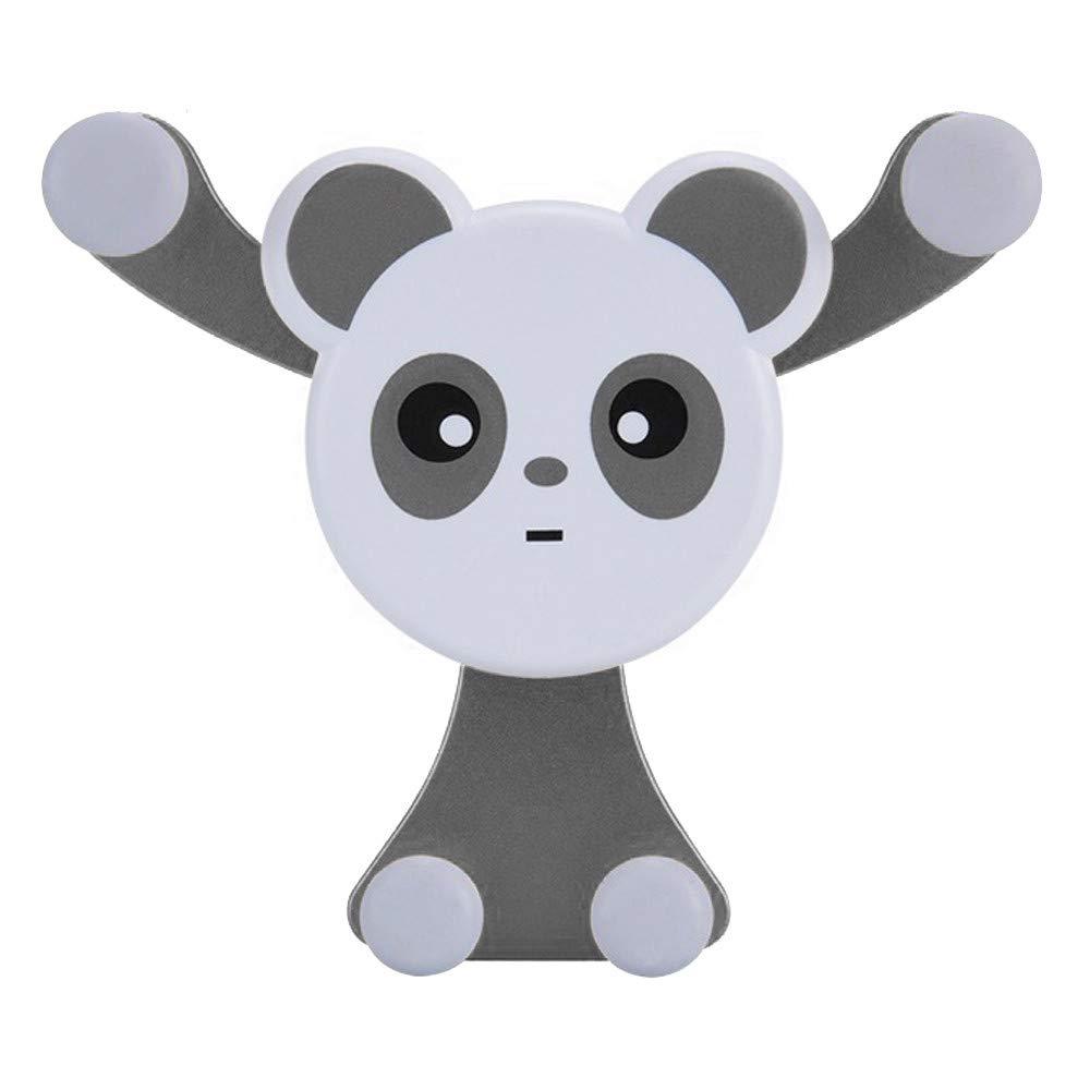 Botrong Panda Car Phone Mount Holder Air Vent Vehicle Mount Cradle Holder for Cell Phone (Black)