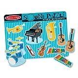 Musical Instruments Theme Sound Puzzle + FREE Melissa & Doug Scratch Art Mini-Pad Bundle [07320]