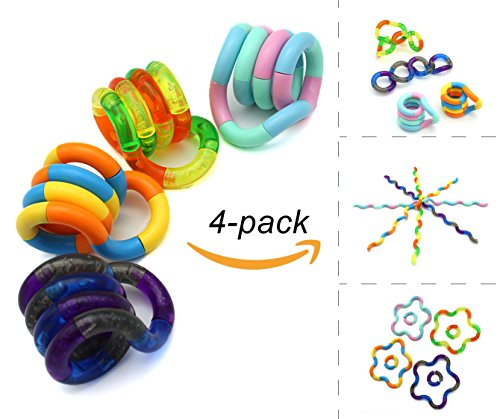 Classic Fidget Sensory Toys Pack Set of 4, Office Stress/Anxiety Relief Stim Toys