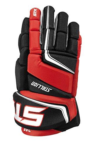 STX Stallion 300 Junior Ice Hockey Gloves, Black/Red, 11