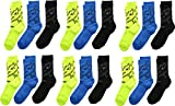 adidas Boys / Youth Tiger Style Cushioned Crew Socks (6-Pack)
