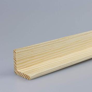 Winkelleiste Schutzwinkel Winkelprofil Tapeten-Eckleiste Abschlussleiste Abdeckleiste aus Kiefer-Massivholz 2100 x 33 x 33 mm
