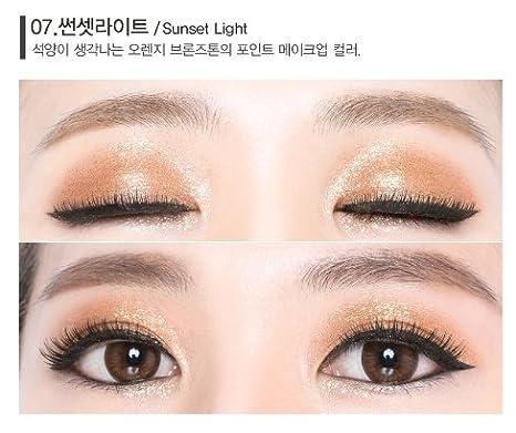 Amazon.com : Beauty People Flash Fix Pearl Pigment Pact (1.8g) Korean Cosmetics Shadow (10 Colors) (#08 ROMANTIC LIGHT) : Beauty