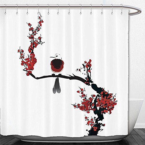 180X 180CM Spanish House Print Polyester Fabric Shower Curtain - 9