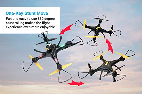 51kP9KqO1PL - Tenergy Syma X8SW Wi-Fi FPV Quadcopter Drone 720P HD Camera Altitude Hold RC 2.4G 4CH 6 Axis, Black/Yellow