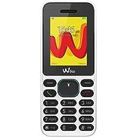 """Wiko Lubi5 - Teléfono móvil Libre DE 1.8"""" (Dual SIM, Radio FM, Teclado físico, Bluetooth, Linterna LED y Reproductor MP3) Color Negro y Blanco"""