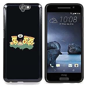 - cheese pizza ninja art fire forest junk food/ Duro Snap en el tel??fono celular de la cubierta - Cao - For HTC ONE A9