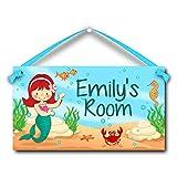 Mermaid Personalised Kids Door Sign