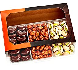 Five Star Gift Baskets Gourmet Food Nuts Chocolate Gift Basket with 3 Different Nuts