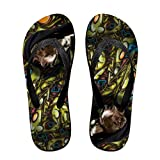 Hip Hop Cool Dog Fun Flip Flops Thong Sandals, Beach Sandals, Casual And Comfortable Sandals