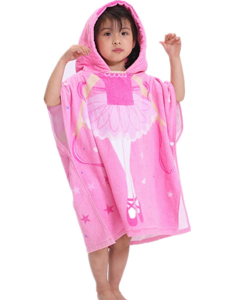 FamyFirst Hooded Towel for Boys, Kids Toddler Cotton Hooded Poncho Bath/Beach/Swim/Pool Towel Cartoon Bathrobe For Boys 1-8 Year Turquoise Whale