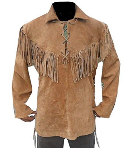 Leather Fringed Shirt Jacket - 1