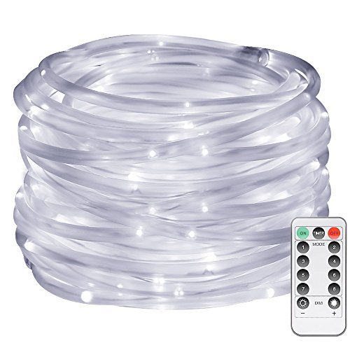 LE LED Dimmable Rope Lights, Battery Powered 33ft 120 LEDs