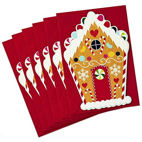 Hallmark Christmas Cards Pack, Gingerbread House (6 Cards with ()