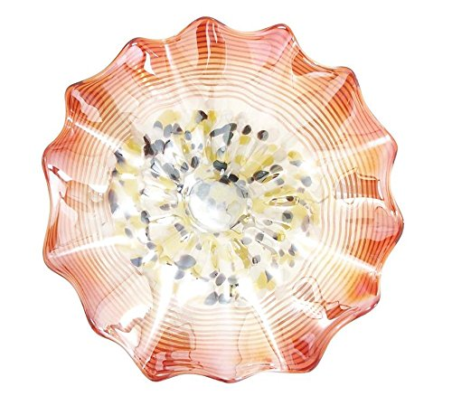 Deco 79 53063 Classy Hand Made Blown Glass Plate