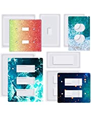 6 Pcs Light Switch Cover Resin Molds Silicone, Standard Switch Socket Panel Epoxy Molds for DIY Crafts Making Home Décor