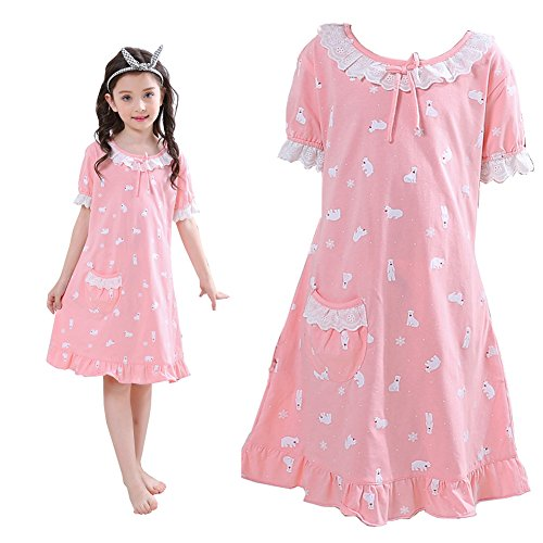 ADAHOP Family Sleepwear Mother Daughter Casual Nightdress for Womens' Sleep Gown]()