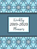 2019-2020 Weekly Planner: 16-Month Planner with Time Slots, Monthly Calendars & Password Tracker, Pretty Practical Planners Blue Mandala, Medium Size Planner
