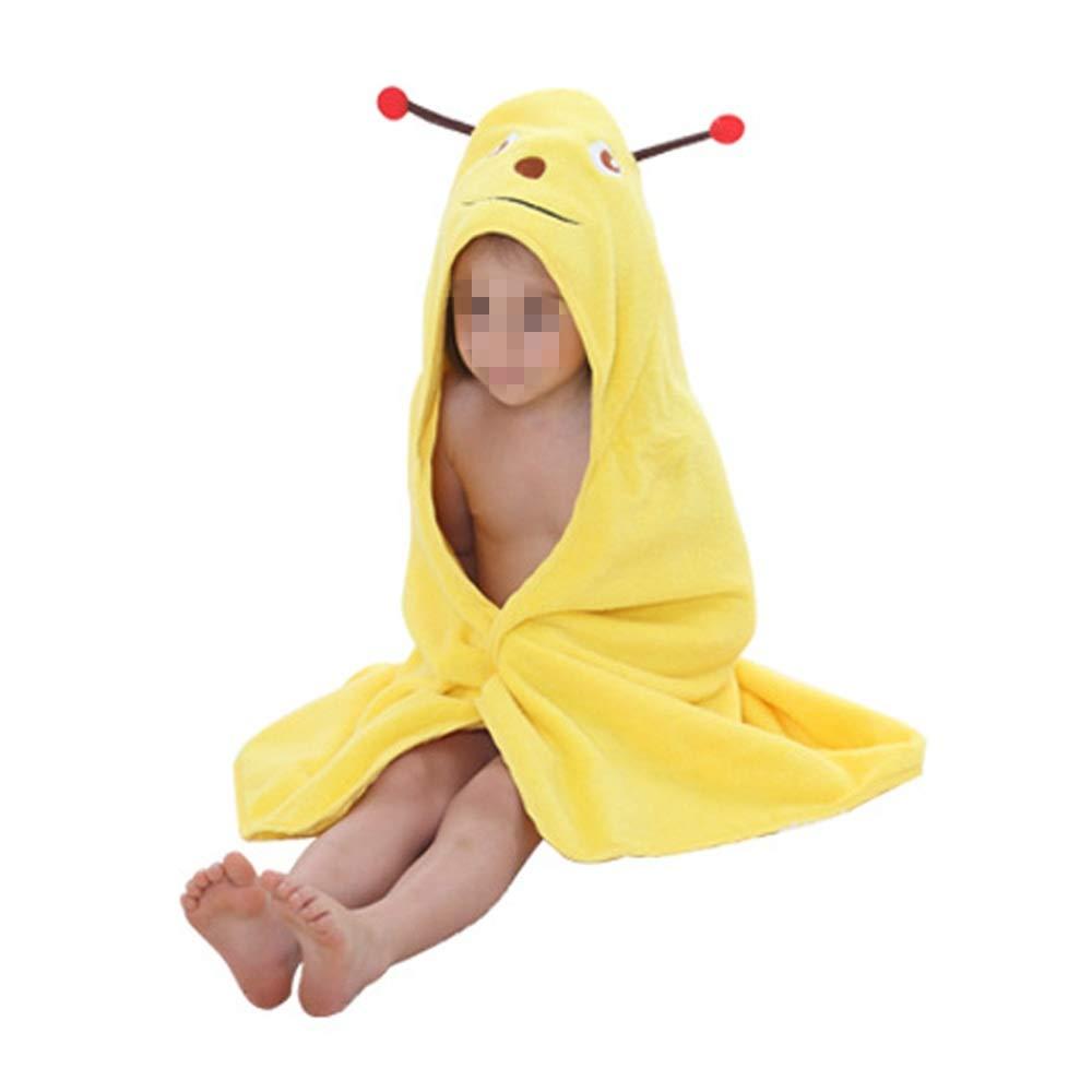 BWAM-tak Kids Hooded Ponchos Kids Children Hooded Bath Towel Beach Bath Towel for Girls/Boys Swimming Bath Towel (Color : Yellow)