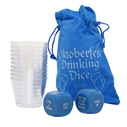 Oktoberfest Drinking Dice Game For Adults - Group Party Fun for Grown Ups - For 2-10 Players - Hilarious Beer Festival Game for Ages 21+