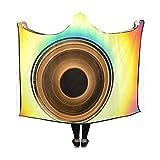 RYUIFI Hooded Blanket Disk Hard Drive Hardware Cd Cd Cd Rom Floppy Disk Blanket 60x50 Inch Comfotable Hooded Throw Wrap