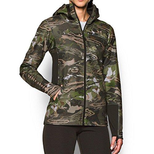 Under Armour Women's Zypher Full Zip Hoodie,Ridge Reaper Camo Fo (943)/Metallic Beige, Medium (Womens Full Zip Camo)