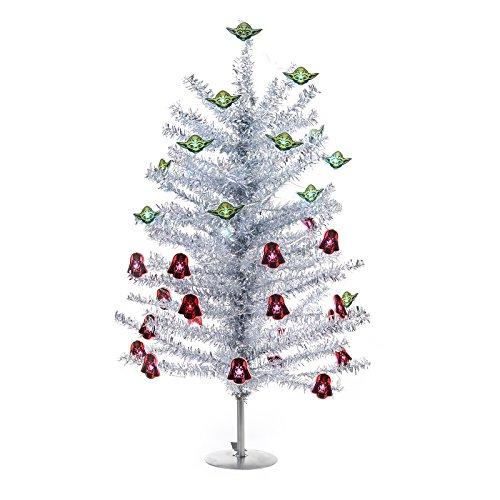 BirthdayExpress Star Wars Holiday Decorations Mini Christmas Tree Kit ()
