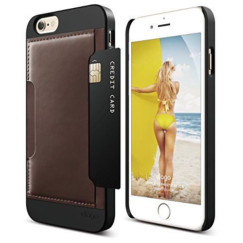 iPhone 6S Case, elago S6 Outfit Genuine Leather Pocket Ca...