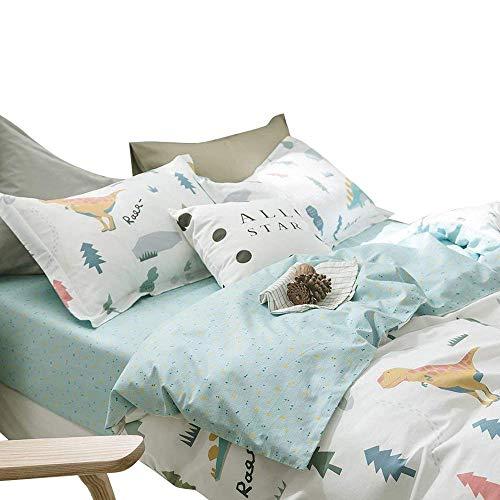 Modern Soft Cotton Fitted Sheet Queen for Kids Boys Geometric Pattern Children Girls Bedding Sheet for Teens Adults Lightweight Cotton Bed Sheet Deep Pocket Queen Fitted Sheet (NO Pillowcases)