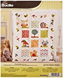 Bucilla Stamped Cross Stitch Crib Cover Kit, 34 by 43-Inch, 46186 Woodland Baby