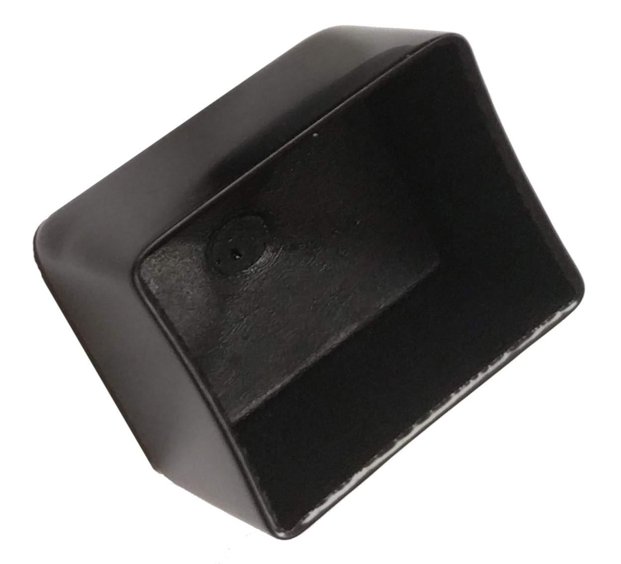Black 1 W x 1-1//2 L x 1 H Herco 10151V Rectangular Dip-Molded Vinyl Plastic Cap 2 pcs