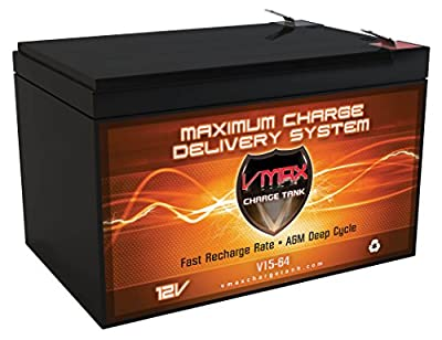 VMAXMB64 AGM Deep Cycle Battery Replacement for Electric Mobility UltraLite Fold & Go Powerchair 760 12V 15AH Battery